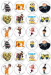 24 x Despicable Me 2 Minions Edible Wafer Cup cake Top Toppers (1)
